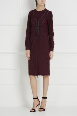 Платье в клетку Thakoon. Цвет: винный, красный, черный