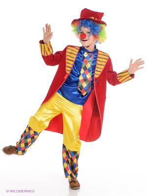 Карнавальный костюм Клоун Франт Батик. Цвет: красный, желтый, синий