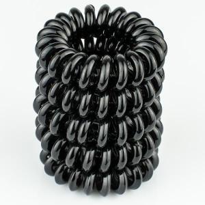 Комплект Резинок-Пружинок для волос 5 шт/уп, арт. РПВ-339 Бусики-Колечки. Цвет: черный