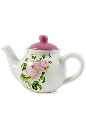 Чайник заварочный Розовый сад Русские подарки. Цвет: мульти