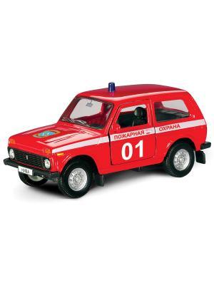 Машина LADA 4x4 пожарная охрана AUTOTIME. Цвет: красный