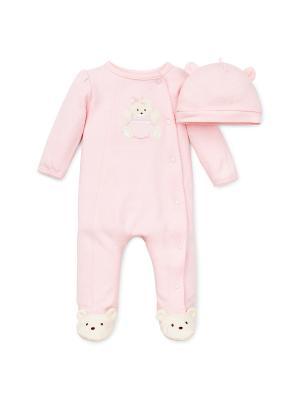Комплект из 2-х вещей Медведица Little Me. Цвет: розовый