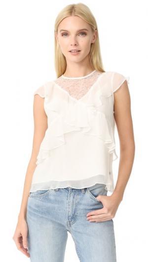 Шелковая блуза без рукавов Leur Logette. Цвет: белый