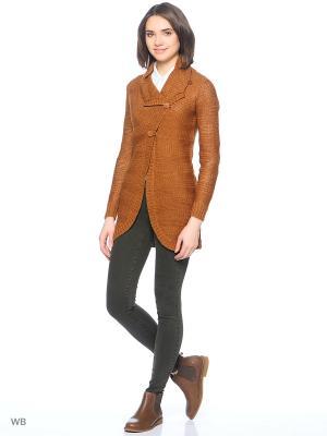 Кардиган ONLY. Цвет: коричневый, оранжевый