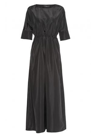 Платье из искусственного шелка 180598 Cyrille Gassiline. Цвет: черный