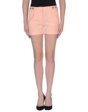 Повседневные шорты GOLD CASE. Цвет: лососево-розовый