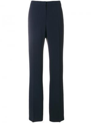 Прямые строгие брюки Mantu. Цвет: синий