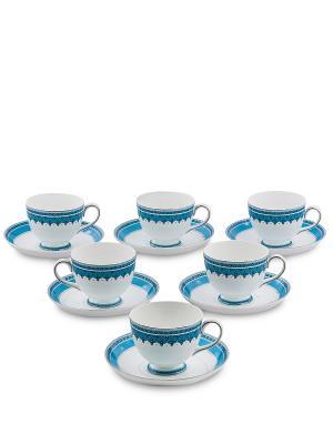 Чайный набор на 6 перс. Византия (Band-E-Rumi Pavone) Pavone. Цвет: белый