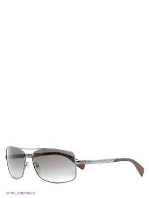 Очки солнцезащитные Prada Linea Rossa. Цвет: темно-серый