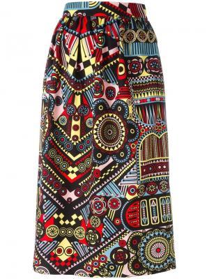 Прямая юбка с узором Holly Fulton. Цвет: многоцветный