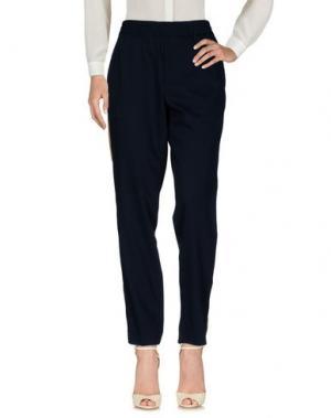 Повседневные брюки PALM ANGELS. Цвет: темно-синий
