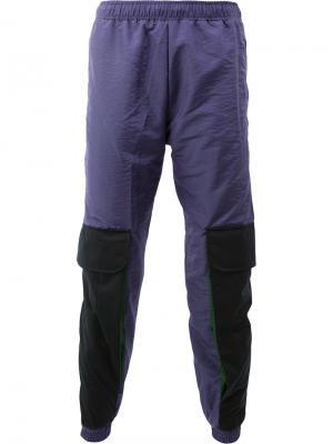 Спортивные брюки дизайна колор-блок Cottweiler. Цвет: многоцветный