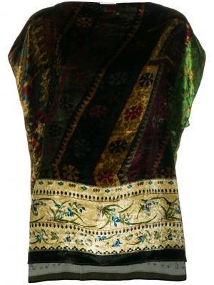 Блузка с цветочным рисунком Pierre-Louis Mascia. Цвет: многоцветный