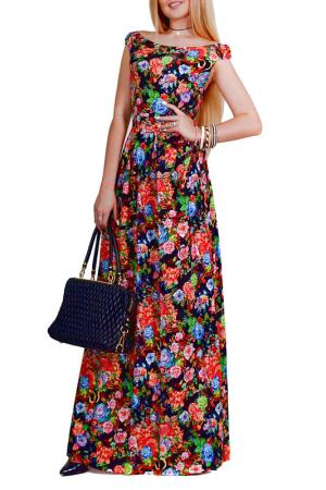 Платье Patricia B.. Цвет: черный, красный, голубой