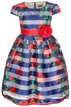 Платье M&D. Цвет: темно-синий