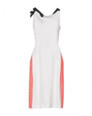 Платье до колена ROLAND MOURET. Цвет: белый