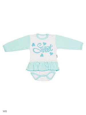 Платье-боди Babycollection. Цвет: голубой