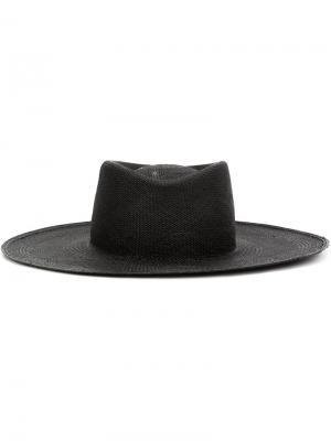 Шляпа-панамка Ryan Roche. Цвет: чёрный