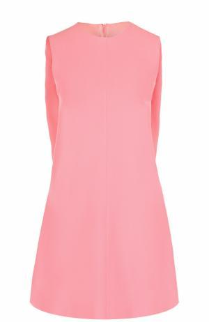 Мини-платье А-силуэта с кейпом Valentino. Цвет: светло-розовый