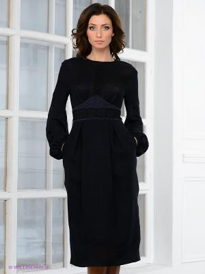 Платье Elena Shipilova. Цвет: темно-синий