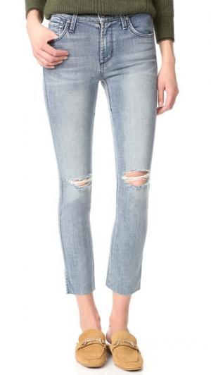 Джинсы Ciggy длиной до щиколотки со средней посадкой James Jeans. Цвет: голубой