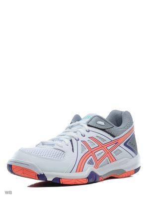 Спортивная обувь GEL-TASK ASICS. Цвет: белый, коралловый, серый