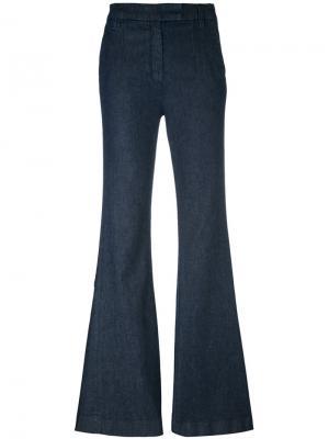 Расклешенные джинсы с высокой талией Current/Elliott. Цвет: синий