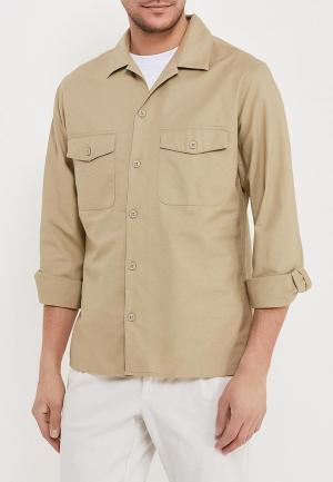 Рубашка Mango Man. Цвет: бежевый