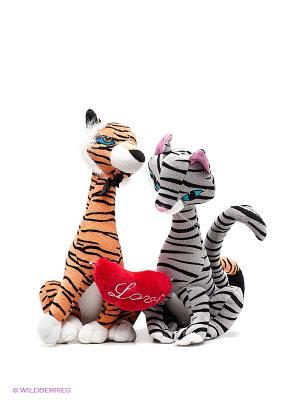 Мягкая игрушка Влюбленная пара Fluffy Family. Цвет: черный, серый, оранжевый
