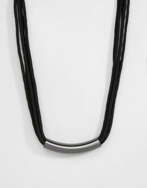 Pilgrim Ожерелье с трубкой. Цвет: бежевый