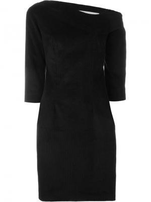Платье асимметричного кроя Martine Jarlgaard. Цвет: чёрный