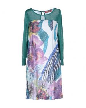 Короткое платье ANGELO MARANI. Цвет: сиреневый