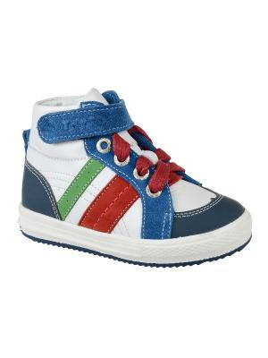 Ботинки Тотто. Цвет: синий, белый