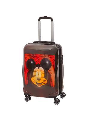 Детский чемодан, 4 колеса, серия Disney Micky&Dali, 42 л, с телескопической ручкой Sun Voyage. Цвет: темно-коричневый, коричневый