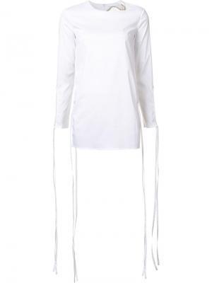 Блузка с вырезными деталями Esteban Cortazar. Цвет: белый