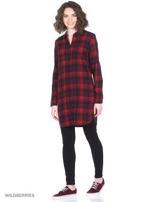 Рубашка VANS. Цвет: красный