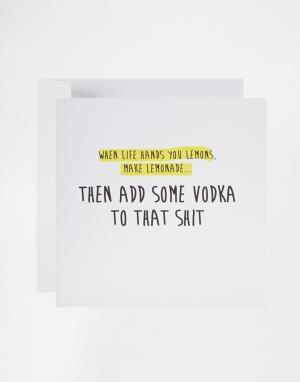 The Naughty Little Card Shop Поздравительная открытка When Life Hands You Lemons от Lit. Цвет: мульти