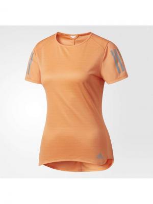 Футболка спортивная жен. RS SS TEE W Adidas. Цвет: оранжевый