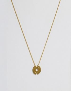 Made Ожерелье с подвеской. Цвет: золотой