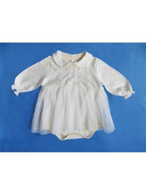 Боди - платье длинный рукав с планкой, КОМПЛЕКТЫ НА ВЫПИСКУ Soni kids