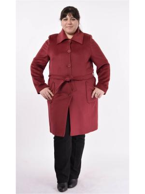 Пальто Milana Style. Цвет: терракотовый