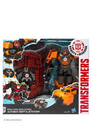 Трансформеры Роботс-ин-Дисгайз Миникон Деплойерс Hasbro. Цвет: золотистый, белый, красный