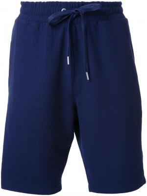 Шорты на шнурке YMC. Цвет: синий