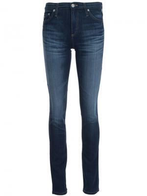 Джинсы с потертой отделкой Ag Jeans. Цвет: синий