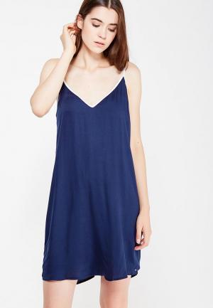 Сорочка ночная Tommy Hilfiger. Цвет: синий