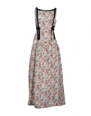 Длинное платье ERDEM. Цвет: белый