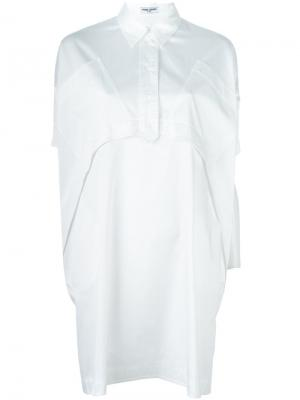 Платье-рубашка Opening Ceremony. Цвет: белый