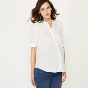 Рубашка прямая для периода беременности La Redoute Collections. Цвет: желтый,слоновая кость