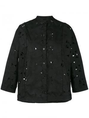 Пиджак с перфорацией Aspesi. Цвет: чёрный