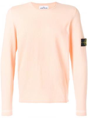 Logo patch sweater Stone Island. Цвет: жёлтый и оранжевый
